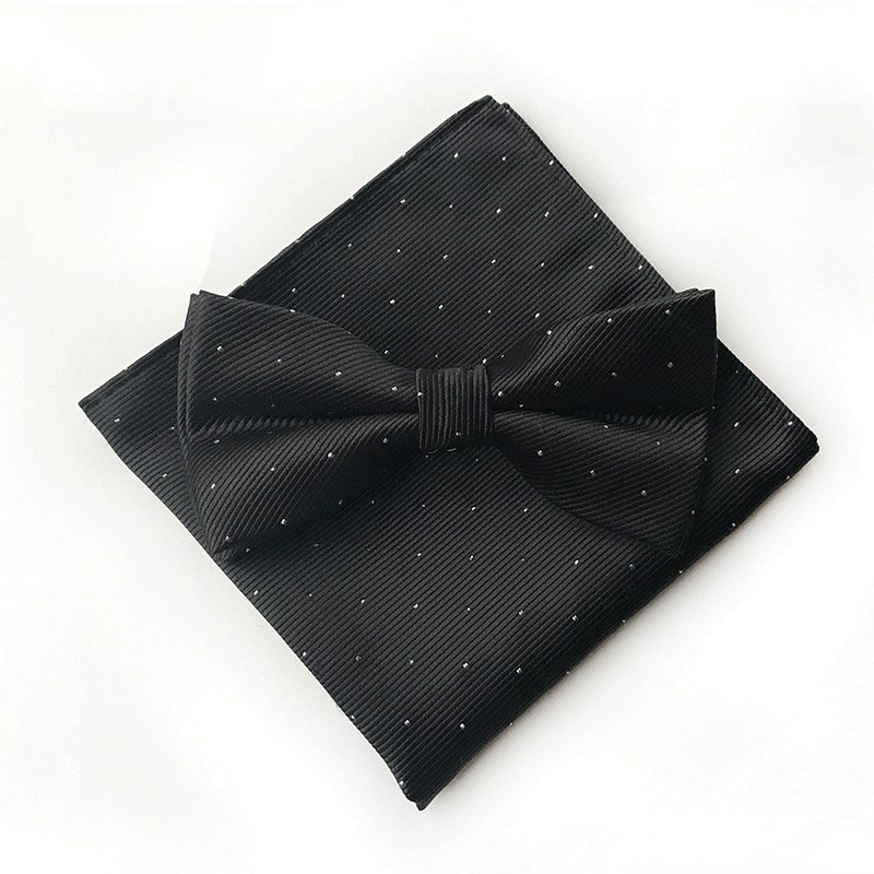Polka Dots Design Formal Mens Necktie Set