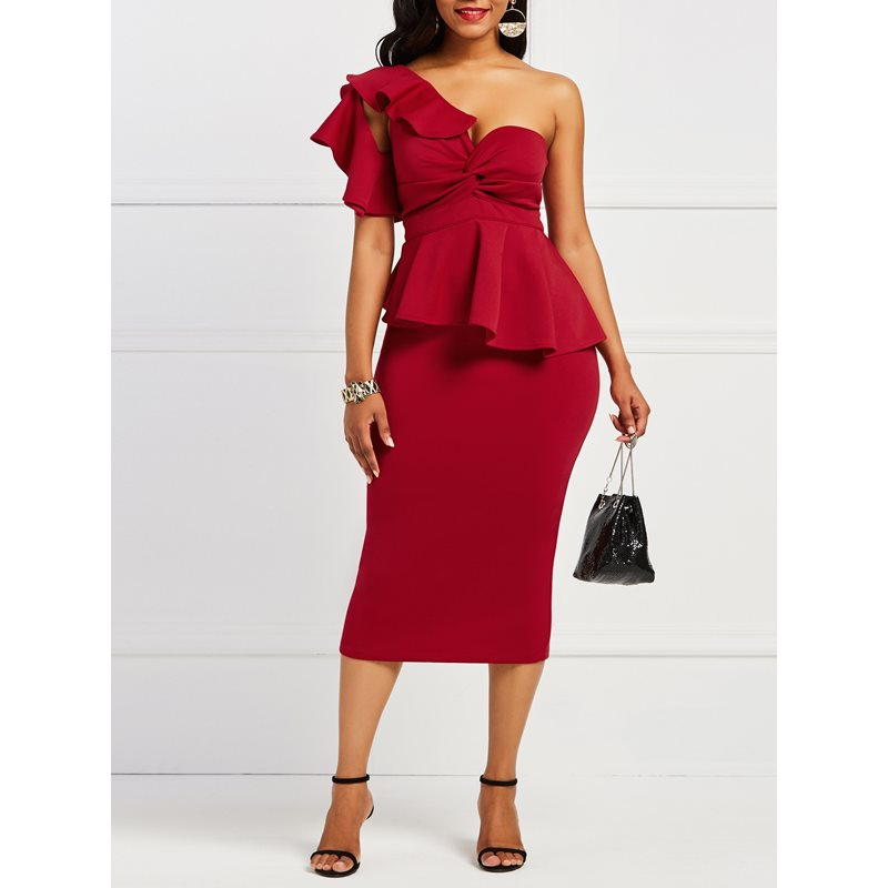 Off-The-Shoulder Backless Womens Bodycon Dress