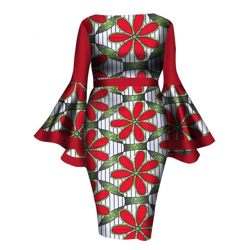 Tidebuy Knee-Length Pullover Floral Womens Bodycon Dress