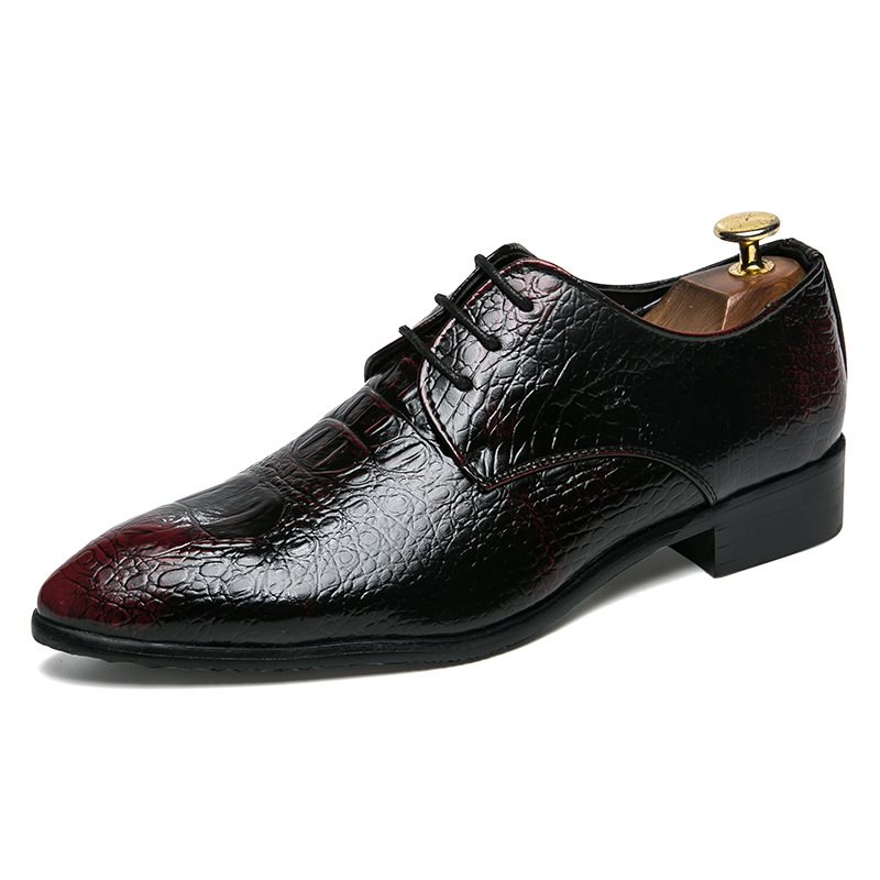 PU Pointed Toe Lace-Up Mens Dress Shoes