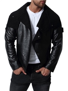 Black Asymmetric Men's Leather Jacket
