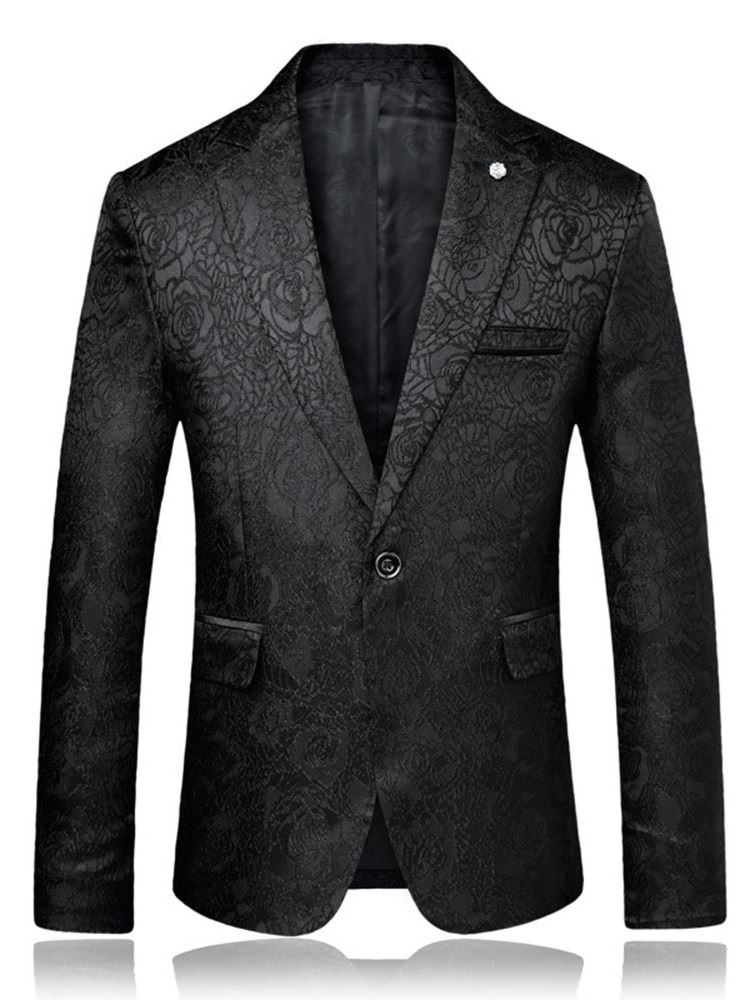 Tidebuy Plain One Button Stylish Mens Slim Blazer
