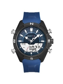 Double Movement Analog-Digital Display Silicone Men's Watch 2
