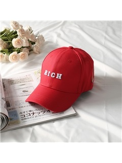 Letter Embroidery Cotton Student Unisex Baseball Cap 2