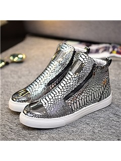 PU Sequin High-Cut Upper Men's Skater Shoes 3