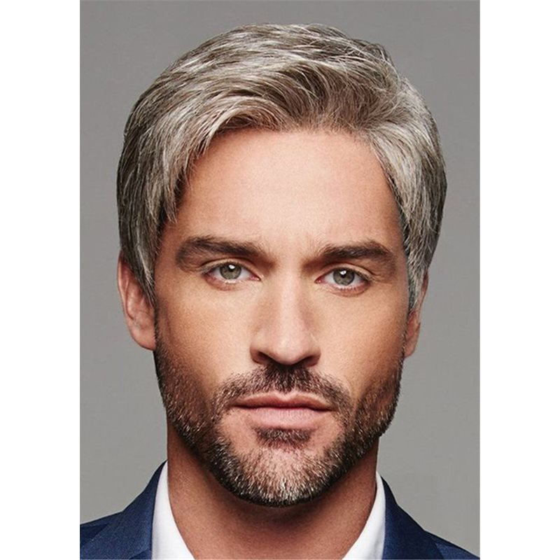 Short Cut Straight Synthetic Hair Mens Lace Front Wig фото