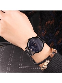 Glass Surface Stainless Steel Fashion Star Table Watch 3