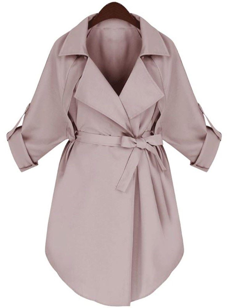 OL Fall Lapel Womens Wrapped Trench Coats