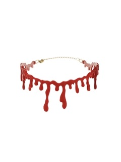 Simulation Blood Stain Design Halloween Link Chain Necklace