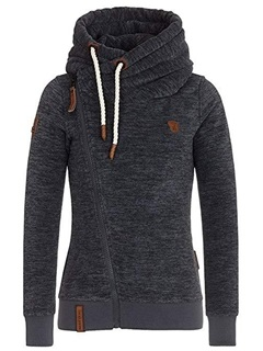 Fall Zipper Casual Turtleneck Women's Hoodie 7