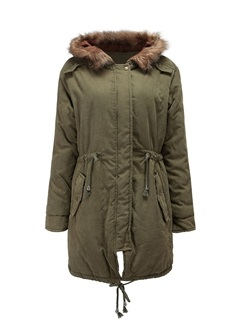 Winter Hooded Thick Long Women's Cotton Overcoat  1
