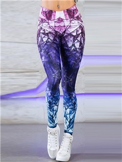 Diamond Pattern High-Waist Full Length Yoga Pants 4