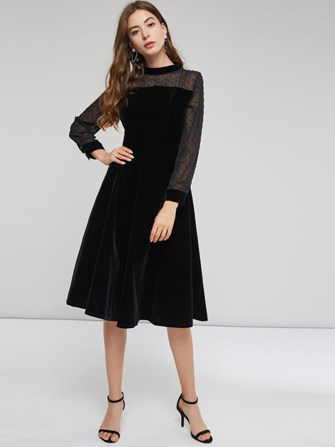 Asymmetric Pullover Women's Long Sleeve Dress