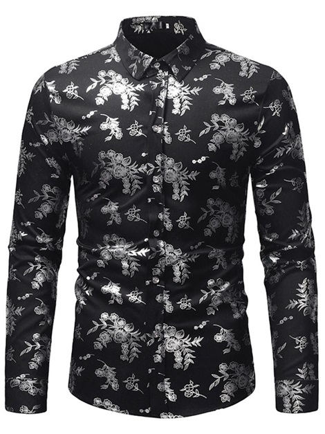 843bfcd5f0c Lapel Floral Print Button Up Men s Shirt   Tidebuy.com
