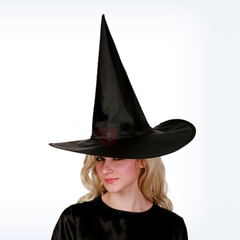 Cone Crown Wide Brim Halloween Witch Hat : Tidebuy.com