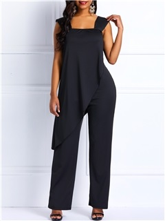 Thin Plain Backless Elegant Women's Jumpsuit 1
