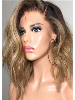 Loose Wavy Side Swept Synthetic Hair Capless Wigs