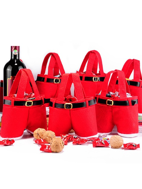Red Christmas Wedding Favors Gift Bags
