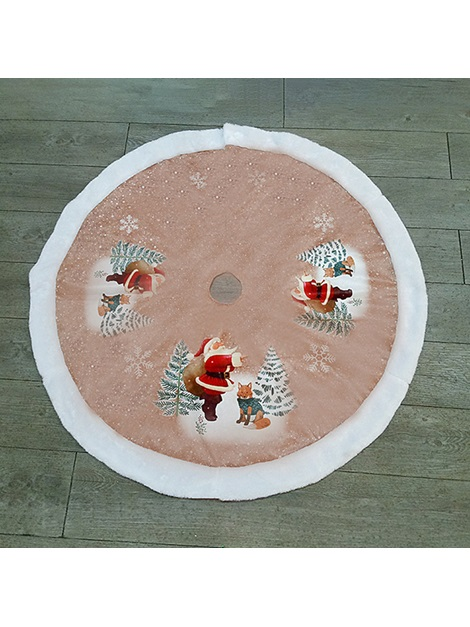Santa Claus Pattern Christmas Tree Skirt