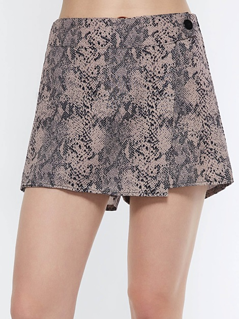 Mini Skirt High Waist Print Serpentine Women's Skirt
