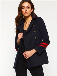 Plain Lapel Double-Breasted Spring Casual Women's Blazer 1
