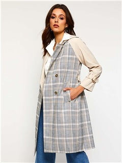 Notched Lapel Long Double-Breasted Fall Casual Women's Trench Coat