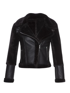 Slim Lapel Zip Thick Women's PU Jacket 2
