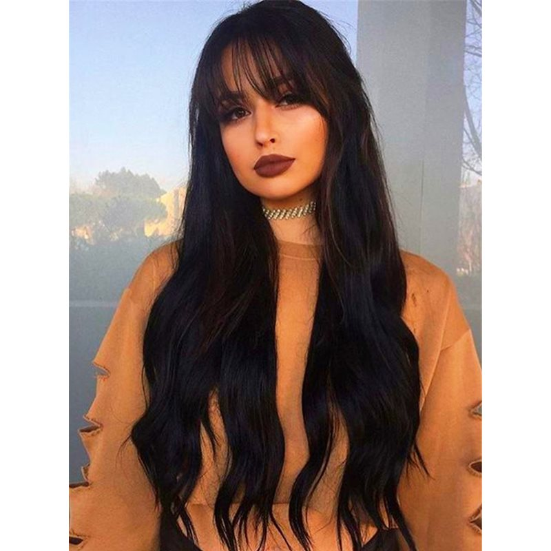 Super Long Straight Synthetic Hair Capless Wigs for Women 26 Inches