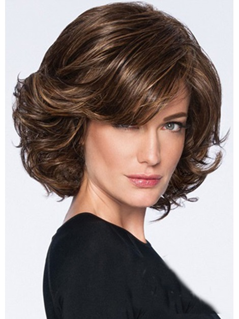 Short Wavy Synthetic Hair Capless Wigs 10 Inches