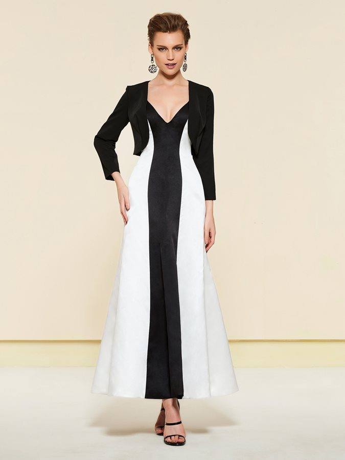 Ankle-Length Mother of the Bride Dress with Jacket