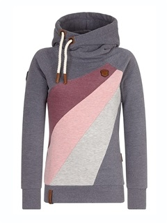 Pullover Color Block Long Sleeve Hooded Women's Hoodie 1