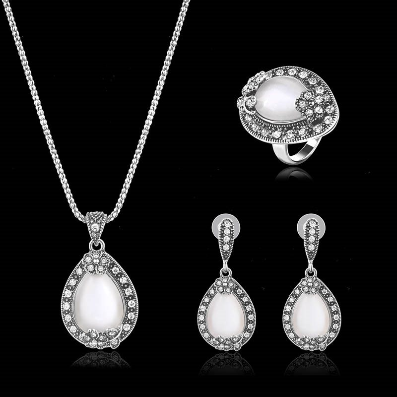 Imitation Diamante 3-Piece Wedding Jewelry Sets