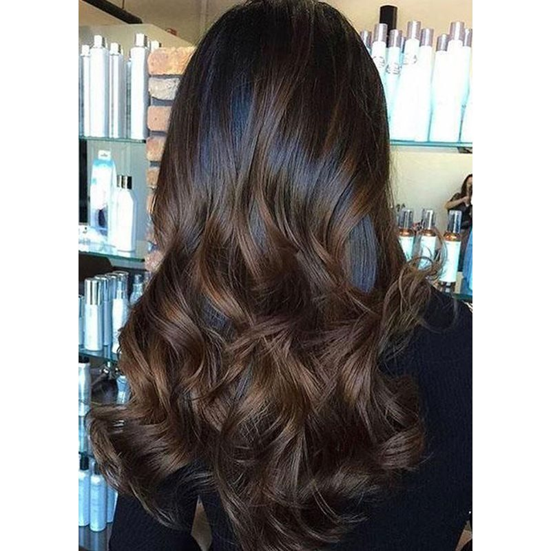 Long Length Loose Deep Wave Side Swept Synthetic Hair Capless Wigs 26 Inches