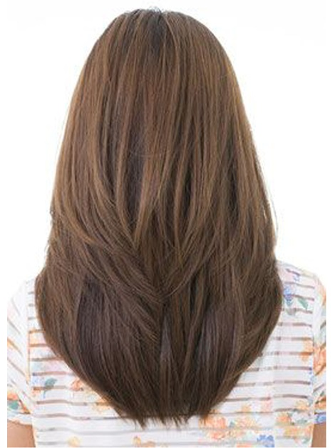 Long Natural Straight Hairstyle Synthetic Hair Lace Front Wigs 20 Inches
