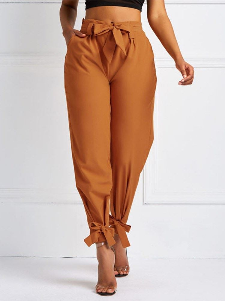 Pleated Loose Plain Full Length Harem Pants Womens Casual Pants