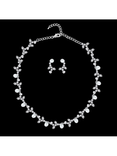 Korean Heart-Shaped Pearl Inlaid Jewelry Sets (Wedding)