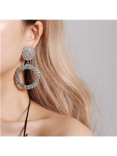 Shiny Gold Color E-Plating Prom Alloy Earrings 3