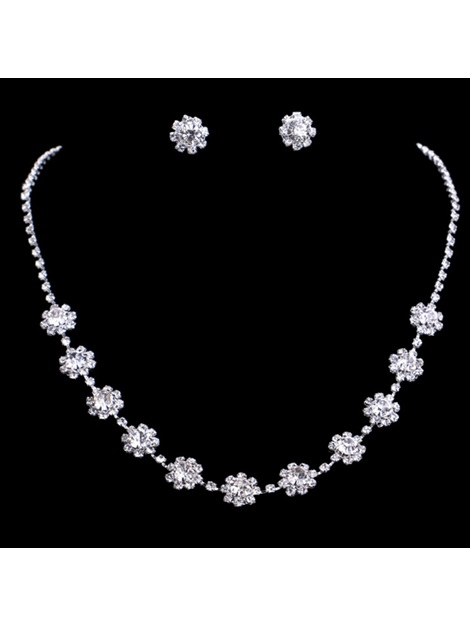 Necklace Gemmed Floral Jewelry Sets (Wedding)