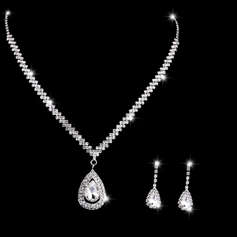 Earrings Floral Diamante Jewelry Sets (Wedding) фото