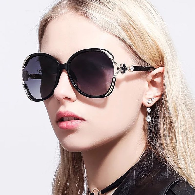 Wrap Resin Large Lens Fashion Sunglasses