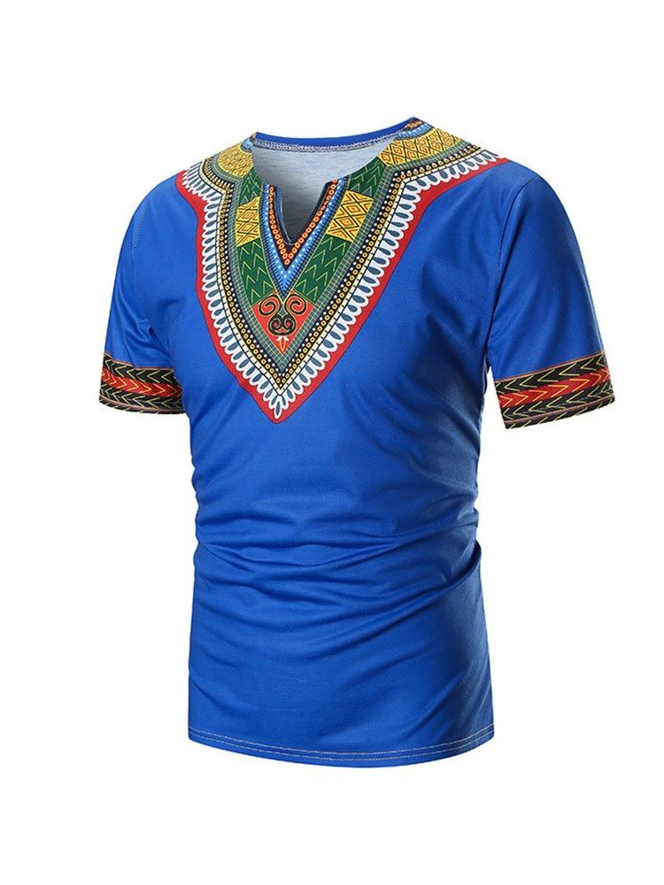 Dashiki Color Block Mens T-shirt