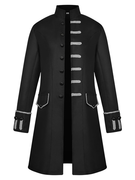 Plain Button Polyester Men's Medieval Jacket