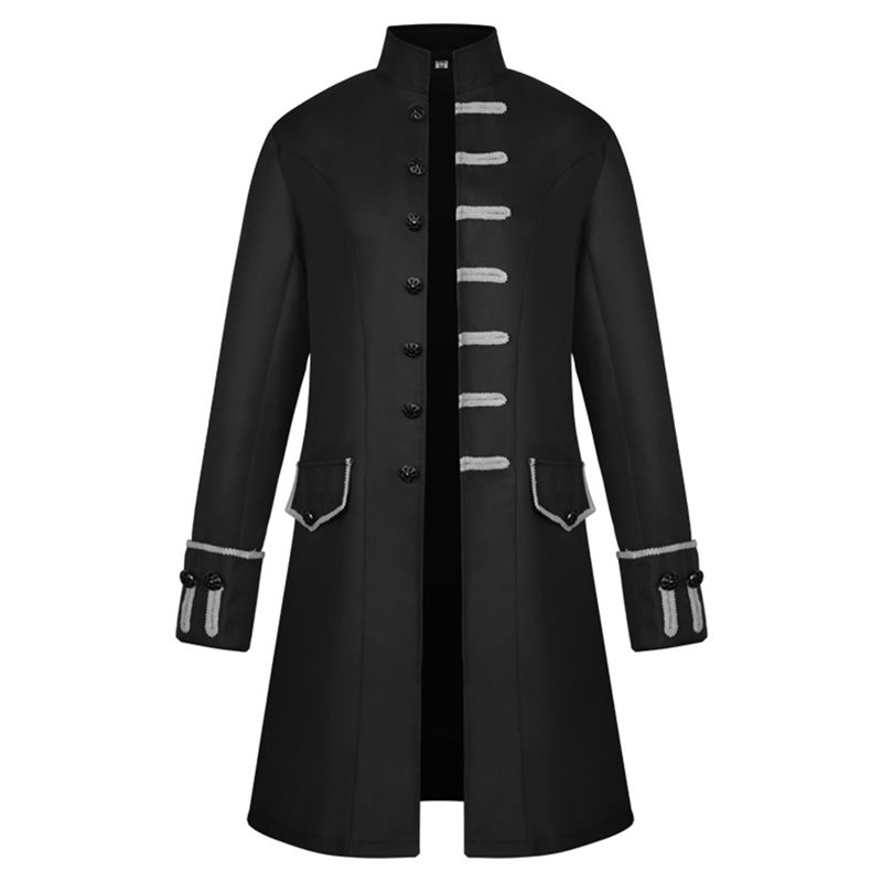 Plain Button Polyester Mens Medieval Jacket фото