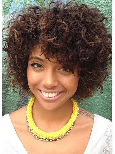 Short Hairstyle Curly Natural Color Human Hair Lace Front Wigs 12 Inches