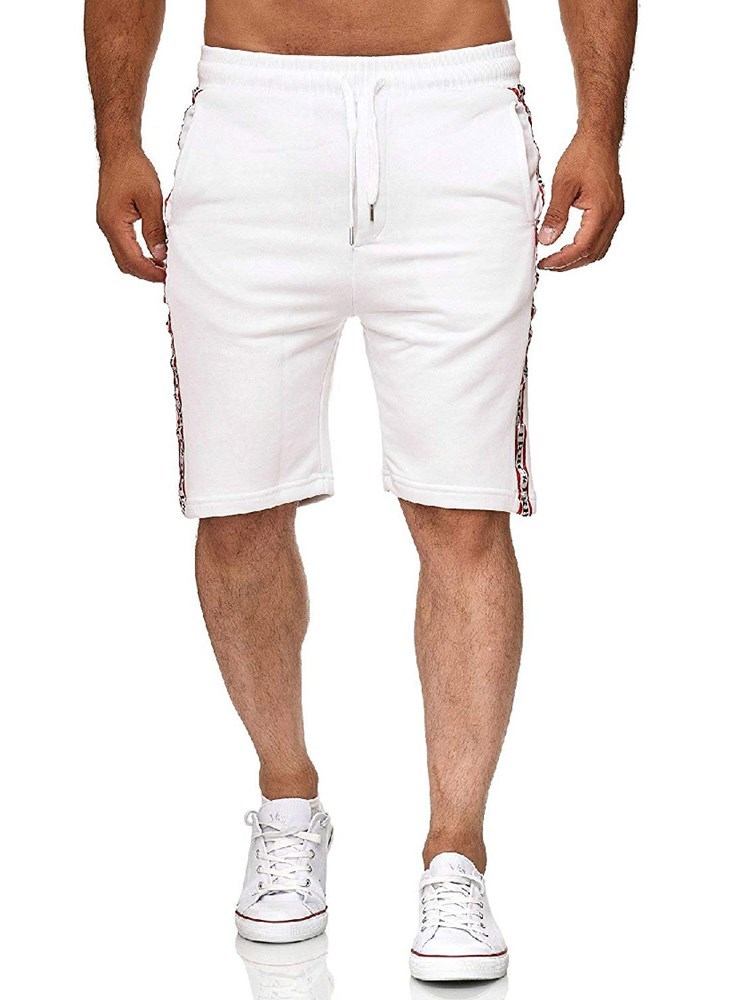 Lace-Up Plain Sports Mens Casual Shorts