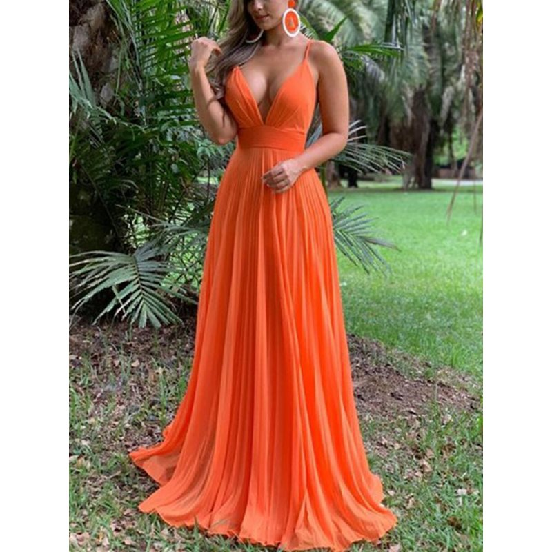Spaghetti Straps A-Line Ruched Prom Dress 2019