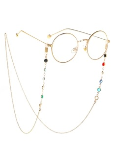 Chic Colorful Beaded Metal Eyeglass Chain 6