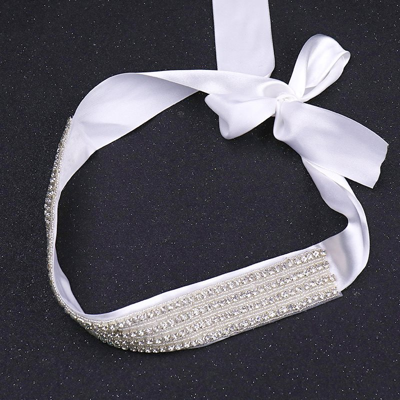 Regular(2-4cm) Fabric Rhinestone Bridal Belts 2019