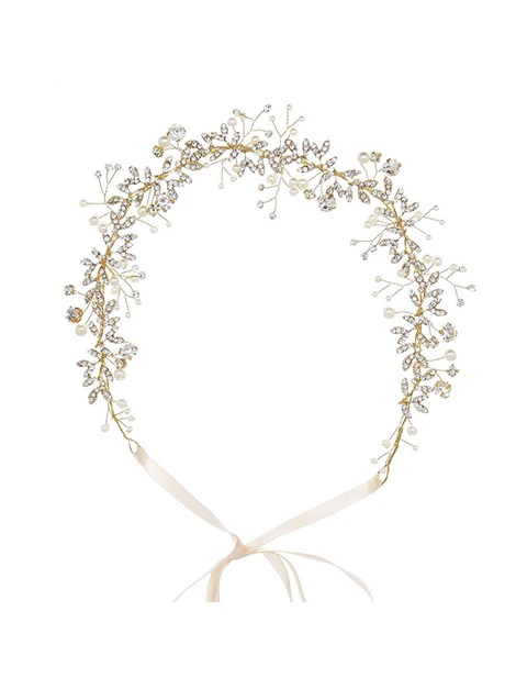 Hairband Diamante Leaf Hair Accessories (Wedding)