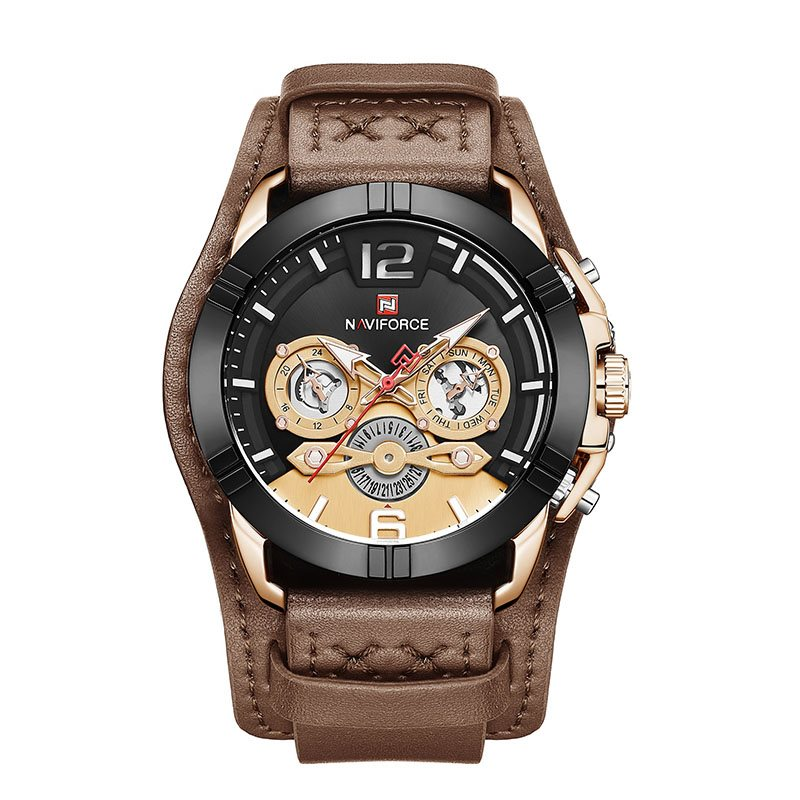 Analogue Display PU Leather Band Mens Watch